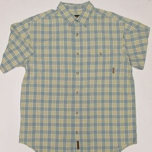 Timberland S/S cotton Button Front Shirt Sz. Large